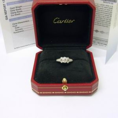 Cartier Diamond Ring 1.55ct GIA Certificated Ballerine