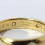 Cartier 18k Yellow Gold Diamond Set Band Ring