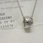 Chopard 18ct white gold diamond set pendant