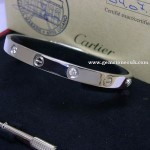 Cartier Love Bracelet In 18ct White Gold 1/2 Diamond & 1/2 Screw