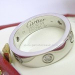 Cartier 1/2 Diamond Love Screw Ring 18ct White Gold