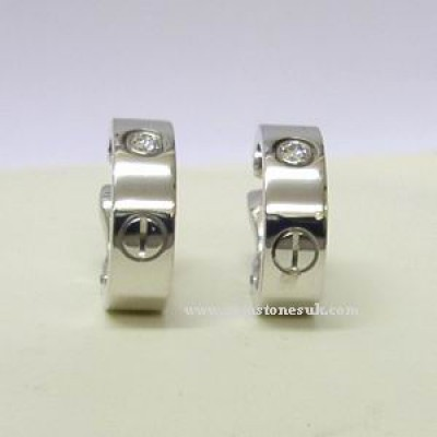 Cartier Diamond Love Screw Earrings 18ct White Gold