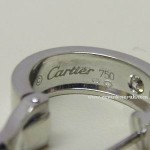 Cartier Diamond Love Screw Earrings 18ct White Gold