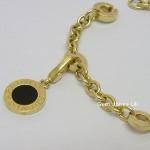 Bvlgari 18ct Gold Charm Bracelet & 2 Charms
