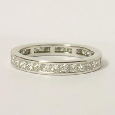 Boodles Platinum 1.52ct Diamond Princess Cut Ring