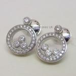 Chopard 18ct White Gold Happy Diamonds Earrings
