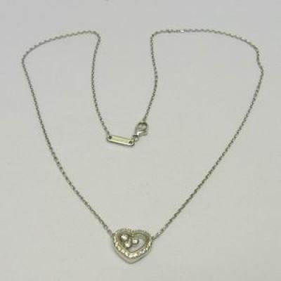Chopard 18ct white gold happy diamond pendant