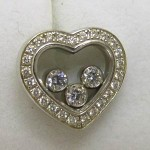 Chopard 18ct white gold happy diamond heart earrings