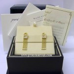 Chopard Happy Diamonds 18ct Gold Square Earrings