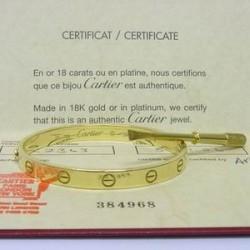Cartier Love Screw Bracelet 18ct yellow gold. 17