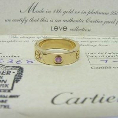 Cartier 18ct Pink Gold, Sapphire Love Screw ring