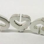 Cartier C Heart Full Diamond 18ct White Gold Bracelet