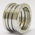 Bvlgari 18ct White Gold 4 Band B Zero 1 Ring