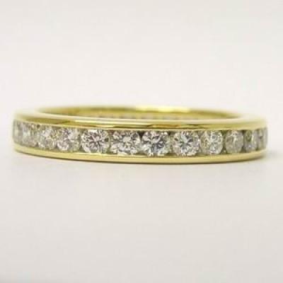 Tiffany Brilliant cut diamond 18ct Gold Full Band ring
