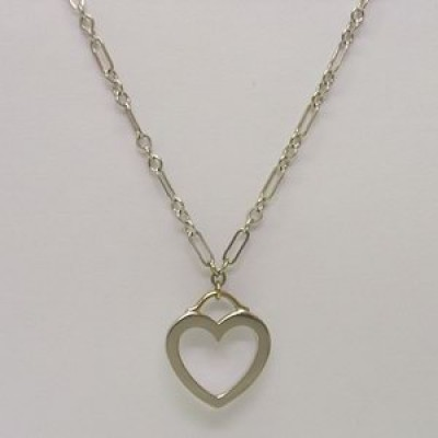 Tiffany & Co 18ct White Gold Heart Pendant & Chain