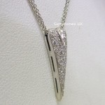 Boodles 18ct White Gold Diamond Heart Pendant
