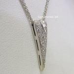 Boodles 18ct White Gold Diamond Heart Pendant
