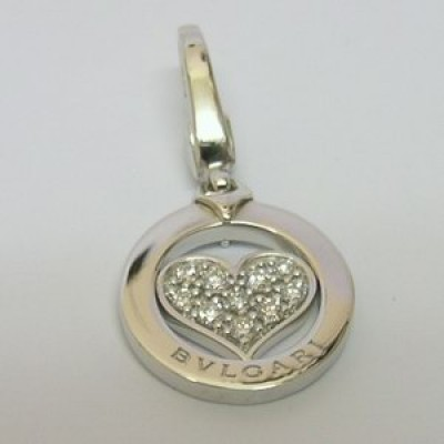Bvlgari 18ct White Gold Tondo Heart Charm