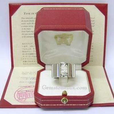 18ct white gold Tank de Cartier ring