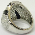 Cartier 18ct White Gold Diamond Panthere Griffee Ring