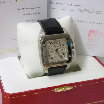 Cartier santos 100xl Watch In Steel w20090x8 automatic chrono
