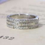 Cartier 18ct White Gold Full Diamond Tank Ring