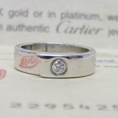 Cartier 18ct white gold diamond set 5mm wide band
