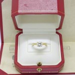 Cartier 18ct gold 1.11 GIA certificated diamond solitaire ring