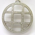 Cartier Pasha 18ct white gold diamond pendant