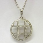 Cartier Pasha 18ct white gold diamond pendant