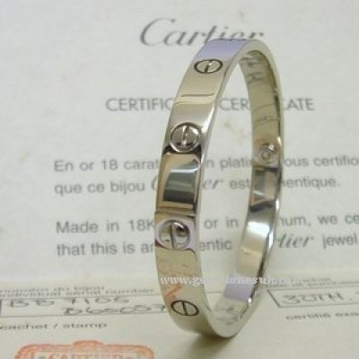 18K White Gold Cartier Love Screw Bracelet