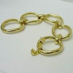 Cartier 18ct Yellow Gold Oval Link Open Bracelet