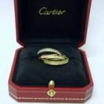 Cartier diamond trinity ring 18ct 3 colour gold