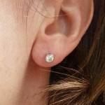 TIFFANY & CO Elsa PERETTI PLATINUM 0.80TCW DIAMOND SOLITAIRE EARRINGS BOXED MINT