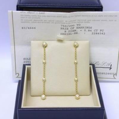 Chopard happy diamonds yellow gold drop earrings