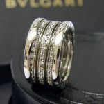 Bvlgari 18ct White Gold Diamond B Zero 1 Ring