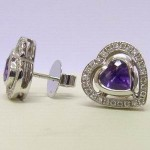 Theo Fennell 18ct White Gold Amethyst & Diamond Earrings