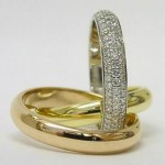Cartier 18ct 3 colour gold diamond trinity ring