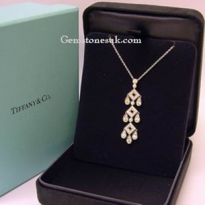 Tiffany Legacy Pagoda platinum Diamond Pendant