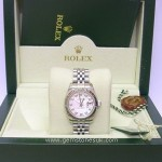 Rolex MOP Diamond Datejust 179174 Steel Watch