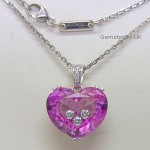 Chopard 18ct White So Happy Pink Heart Pendant
