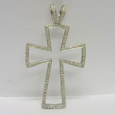 Theo Fennell 18ct white gold diamond cross pendant