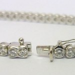 Theo Fennell 18ct White gold 5.50ct Round Diamonds Reveal Tennis Bracelet