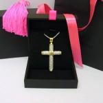 Theo Fennell 18ct gold large diamond cross pendant
