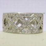 Tiffany & Co Platinum Diamond Braided Band Ring