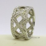Tiffany & Co Platinum Diamond Braided Band Ring