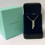 Tiffany Diamond Platinum Jazz Double Drop Pendant