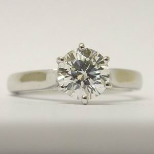 IGI 1.03ct Round Diamond Platinum D colour VVS1 Ring