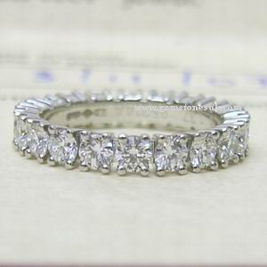 Cartier Platinum 1.37ct Full Diamond Eternity Ring
