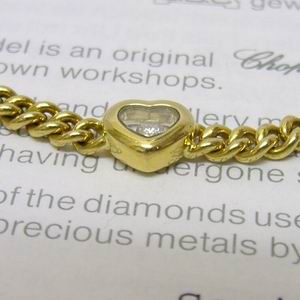Chopard 18ct gold 3 heart happy diamonds bracelet
